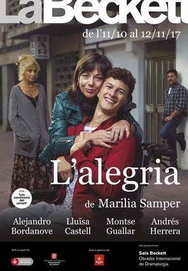 La Sala Beckett estrena el último trabajo de Marilia Samper. L Alegria se  podrá ver del 11 de octubre al 12 de noviembre y es un texto fruto de la ... 76f37f41646